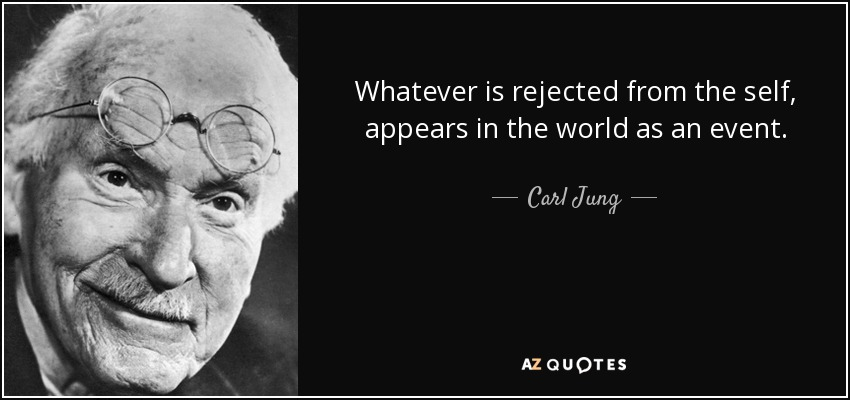What is rejected in the self shows up as an event